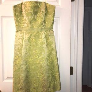 Ann Taylor Strapless Silk Dress